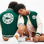 Lacoste x GOLF le FLEUR Two Tone Varsity Jacket