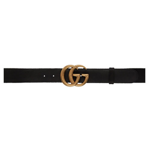 Gucci Black GG Belt