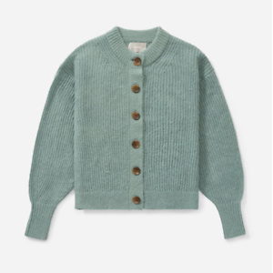 Everlane The Cropped Alpaca Cardigan