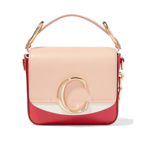 CHLOÉ Chloé C mini color-block leather shoulder bag