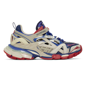Balenciaga  Blue & Red Track.2 Sneakers