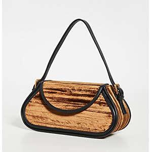 BY FAR Uma Mini Crushed Velvet Shoulder Bag
