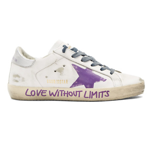 Golden Goose  White 'Love Without Limits' Superstar Sneakers
