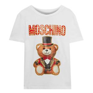 MOSCHINO Glittered printed cotton-jersey T-shirt