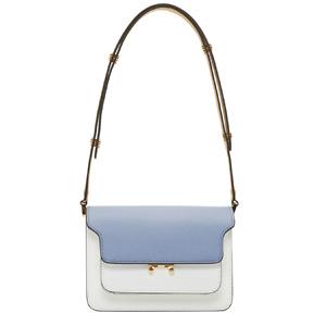 Marni  Blue & White Small Trunk Bag