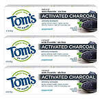 Tom's of Maine Activated Charcoal Toothpaste 3pk