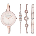 Anne Klein Women's AK/3352 Swarovski Crystal Accented Bangle Watch and Bracelet Set $71.28,free shipping