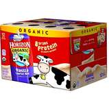 Horizon Organic UHT Vanilla Milk Boxes with DHA Omega-3, 1% Single Serve, 8 Oz., 12 Count