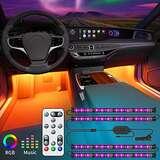 销售第一!Govee 2合1升级版可遥控汽车内饰灯,48个LED灯套件,32种颜色,可与音乐同步,适用于各种汽车,使用折扣码后