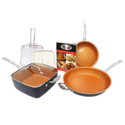 Gotham Steel 1371 Tastic Bundle 7 Piece Cookware Set Titanium Ceramic Pan, Copper $59.35,free shipping
