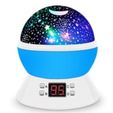 MOKOQI Modern Rotating Moon Sky Projection LED Night Lights Toys Table Lamps with Timer shut off & Color Changing $19.51