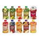 Happy Baby Clearly Crafted Stage 2 Organic Baby Food 10 Flavor Variety Sampler (Pack of 10) $23.99