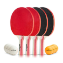 Table Tennis Ping Pong Set - Pack of 4 Premium Paddles/Rackets and 6 Table Tennis Balls - Soft Sponge Rubber - Ideal for Professional & Recreational Games - 2 or 4 Players - $16.22