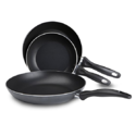 T-fal B363S3 Specialty Nonstick Omelette Pan 8-Inch 9.5-Inch and 11-Inch Dishwasher Safe PFOA Free Fry Pan / Saute Pan Cookware Set, 3-Piece, Gray $22.49