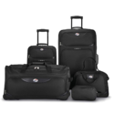 American Tourister 5-Piece Softside, Black $49.99,free shipping