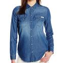 Calvin Klein Jeans Basic Denim女士牛仔衬衫$22.85