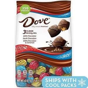 DOVE PROMISES 巧克力 43.07oz混合装 150颗 现价$15.29 一颗只需$0.1