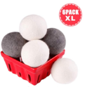 Wool Dryer Balls Laundry XL 6-Pack - 100% Organic New Zealand Wool - Eco Dryer Balls Reusable Natural Fabric Softener $7.59