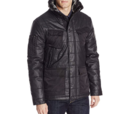 Calvin Klein Jeans Men's Coated Puffer Jacket, Black