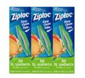 Ziploc 超大号食物保鲜密封袋 90个