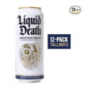 Liquid Death Mountain Water, 16.9 oz Tallboys (12-Pack) $17.59