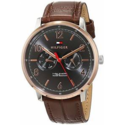 Tommy Hilfiger Men's Sophisticated Sport Stainless Steel Quartz Watch with Leather Calfskin Strap, Brown, 0.75 1791357 $69.99,free shipping