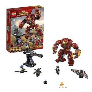 史低价:LEGO 76104 超级英雄系列之钢铁侠反浩克装甲套装 375片