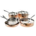 史低价!Cuisinart 美膳雅 Copper Tri-Ply不锈钢铜锅具8件套