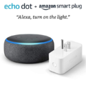 Echo Dot (3rd Gen) bundle with Amazon Smart Plug - Charcoal $39.99,free shipping