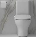 Bio Bidet Slim Zero-Non Electric Bidet Seat for Elongated Toilet, Dual Nozzle, NightlightWhite