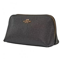 JomaShop: COACH Pebbled Leather Cosmetic Bag- Black
