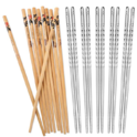 Hiware 10 Pairs Reusable Chopsticks Set