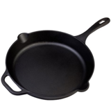 Victoria SKL-212 Cast Iron Skillet Large Frying Pan with Helper Handle Seasoned with 100% Kosher Certified Non-GMO Flaxseed Oil, 12 Inch, Black $9.99