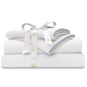 "Organic Cotton Bed Sheets Set - 500TC Queen Size Ultra White - 4 Piece Bedding - 100% GOTS Certified Extra Long Staple, Fits 15"" Deep Pocket Mattress $63.99,free shipping"