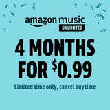 Amazon Music Unlimited 4-Mon for $0.99