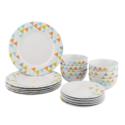 AmazonBasics 彩色陶瓷餐具18件套