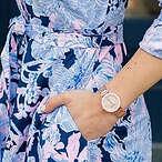 Anne Klein 镶钻玫瑰金时装女表