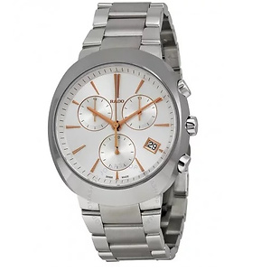 RADO D Star Chronograph Off White Dial Stainless Steel Men's Watch
