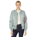 Alpha Industries Women's Ma-1 Blood Chit Flight Jacket W $71.01,free shipping