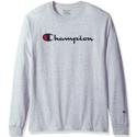 Champion 男士全棉长袖T恤 $14.99