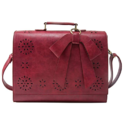 ECOSUSI Ladies Vegan Leather Laptop Bag for School Briefcase Crossbody Messenger Bags Satchel Purse Fit 14 inches Laptop, Red $34.99,free shipping