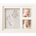 Bubzi Co BabyFootprint Kit & Handprint Photo Frame for Newborn Girls and Boys, Baby Photo Album for Shower Registry, Personalized Baby Gifts $19.95