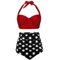 Angerella Women Vintage Polka Dot High Waisted Bathing Suits Bikini Set $25.49,free shipping