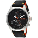 HUGO BOSS Men's Amsterdam Stainless Steel Quartz Watch with Leather Calfskin Strap, Black, 22 1550020 $92.06,free shipping