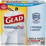 史低价!Glad ForceFlexPlus 长型 高强韧 13加仑 垃圾袋,80个装