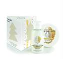 The Body Shop Almond Milk and Honey Treats Cube Gift Set, 2pc Paraben-Free Bath and Body Gift Set, Dermatologically Tested for Dry, Sensitive Skin