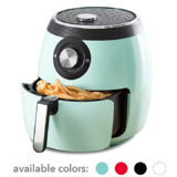 Dash DFAF455GBAQ01 Deluxe Electric Air Fryer + Oven Cooker with Temperature Control, Non Stick Fry Basket, Recipe Guide + Auto Shut Off Feature 6 qt Aqua $69.99,free shipping