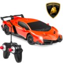 Best Choice Products: 1/24 Kids RC Lamborghini Veneno Racing Car Toy w/ Lights, Shock Suspension