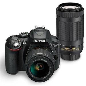 Nikon D5300 DX-Format 24.2MP DSLR Camera with 18-55mm & 70-300mm VR II Lenses Factory Refurbished