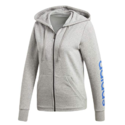 adidas Women's Essentials Linear Full Zip Fleece Hoodie $19.99